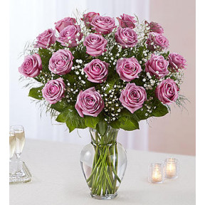 Ultimate Elegance Long Stem Lavender Roses (24 Steams Lavender)