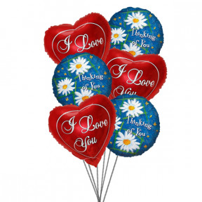 Smiles & love Balloons (6 Latex & 3-Mylar Balloons)