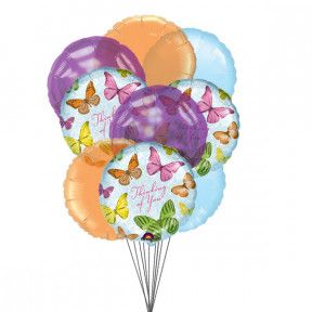 In Your Thoughts Balloons (6 Latex & 3-Mylar Balloons)