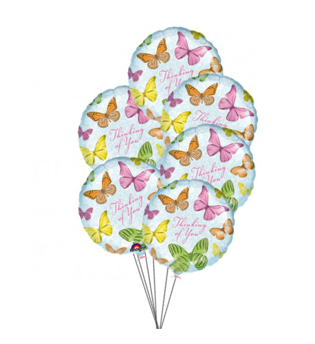 In Your Thoughts Balloons (6-Mylar & 6-Latex Balloons)