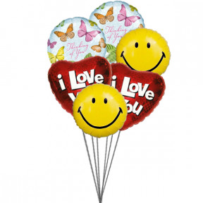 Loveable Balloons (6-Mylar Balloons)