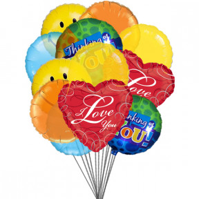 Lovely Balloons (6-Mylar & 6-Latex Balloons)