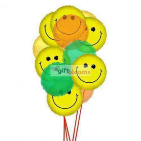 Wide smile balloons    (  6-Latex Balloons )