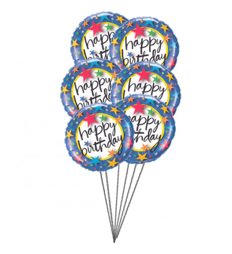 Colourful balloons (6 Latex & 3-Mylar Balloons)