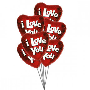 Love you bubble balloons