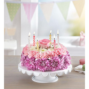 Birthday Flower Cake Pastel (Medium)