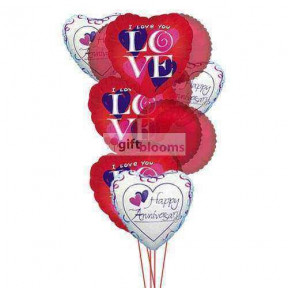 Balloons for loved ones ( 6 Mylar & 6 Latex Balloons )