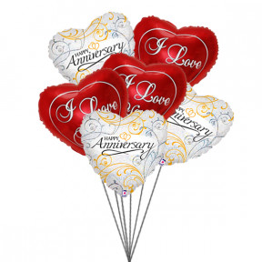 Balloons for loved ones(6 Mylar Balloons)