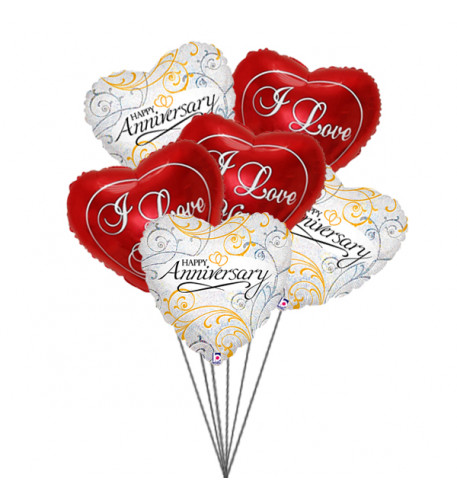 Balloons for loved ones (6 Latex & 3-Mylar Balloons)