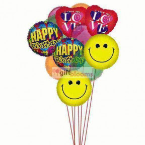 Birthday bash balloons full of love,smile & wishes    (  6-Latex Balloons )