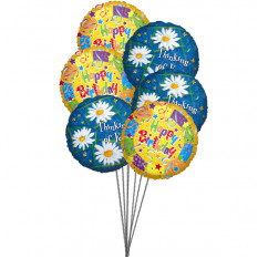 Sweet yellow birthday Balloons