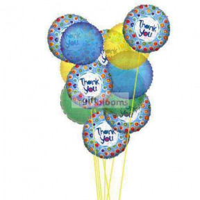 Thank's Balloons  ( 6 Mylar and 6-Latex Balloons )