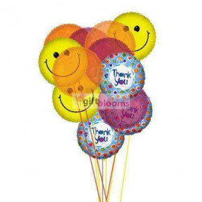 Thank You Balloon Bouquet     ( 6 Mylar & 6 Latex Balloons )