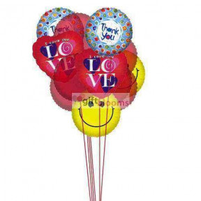 Sweet Smiles Balloons    (  6-Latex Balloons )