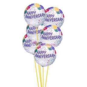 Anniversary wishes ballons    (  6-Latex Balloons )