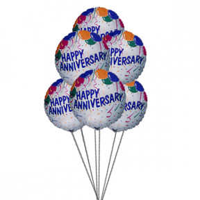 Anniversary wishes ballons (6 Mylar Balloons)