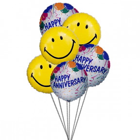 Wishes and smile balloons(6 Mylar Balloons)
