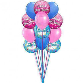 Bunch of lovely happy birthday balloons    (  6-Latex Balloons )