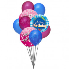 Bunch of lovely happy birthday balloons (6 Latex & 3-Mylar Balloons)