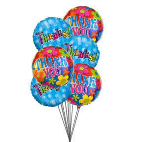 Bunch of THANK YOU balloons ( 6 Mylar Balloons)