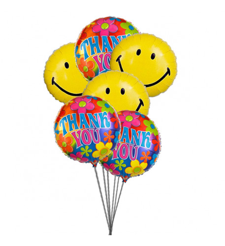 Thank's with smile ( 6 Mylar Balloons)