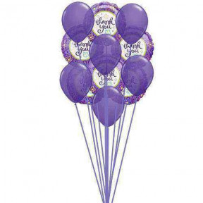 Purply (6 Latex & 6-Mylar Balloons)