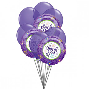 Purply (6 Latex & 3-Mylar Balloons)