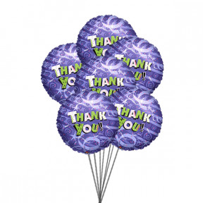 Bunch of Thanks (6 Mylar Balloons)