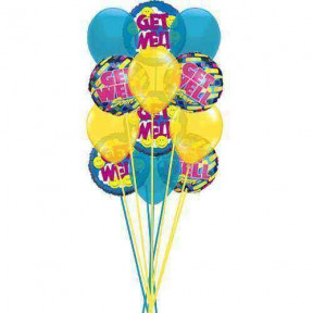 Bunch of Get well Soon Balloons    (  6-Latex Balloons )
