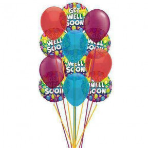 Ready to get well soon balloon    (  6-Latex Balloons )