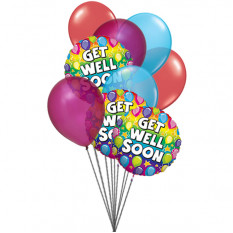 Ready to get well soon balloon (6 Latex & 3-Mylar Balloons)
