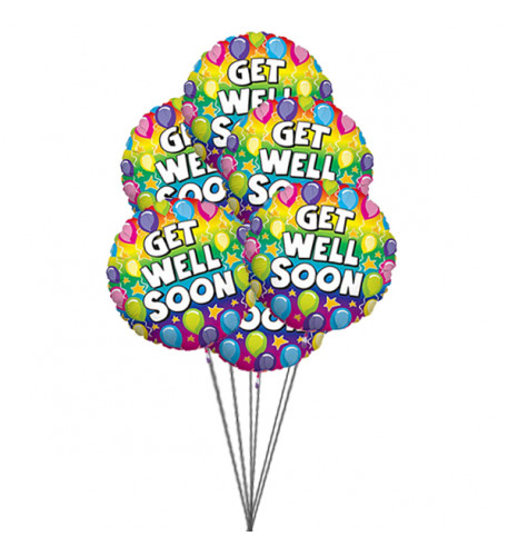 Ready to get well soon balloon ( 6 Mylar Balloons)