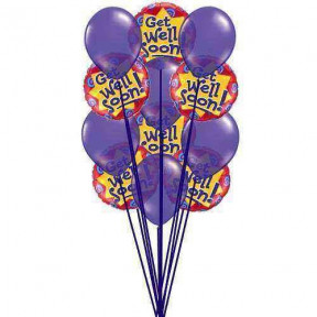 Purply getwell balloons    (  6-Latex Balloons )