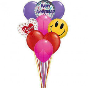 I love you anniversary balloons    (  6-Latex Balloons )