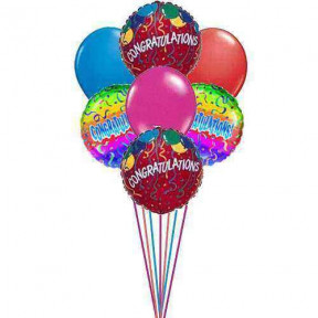 Congratulations with Balloons     (  3-Latex Balloons )
