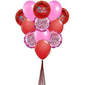 Cheering  birthday balloons    (  6-Latex Balloons )