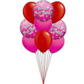 Rich Birthday balloons    (  3-Latex Balloons )