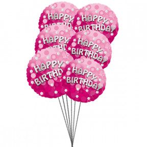 Rich Birthday balloons (6 Latex & 3-Mylar Balloons)