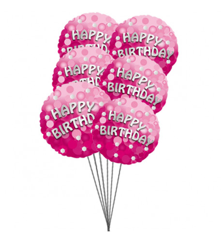 Rich Birthday balloons (4-Mylar & 3-Latex Balloons)