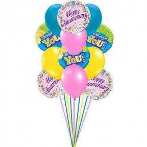 Thinking on Anniversary balloons    (  6 Latex Balloons )