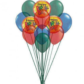 Bouquet of best birthday balloons    (  3 Mylar Balloons )