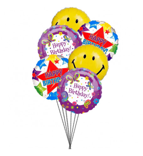 Birthday Party balloons (3 Latex & 6 Mylar Balloons)