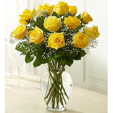 Rose Elegance Premium Long Stem Yellow Roses (12  Roses)