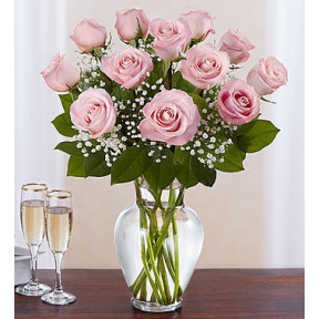 Rose Elegance Premium Long Stem Pink Roses (Medium)