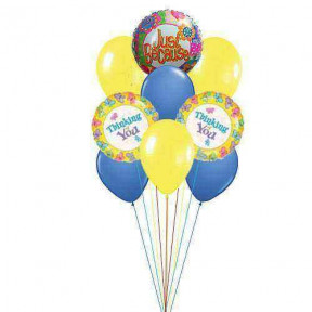 Giftblooms special for you    (  3 Mylar and 6 Latex Balloons )