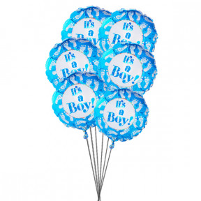 It's balloons for Boy(6 Mylar Balloons)