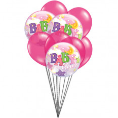 Pink for Girls (3 Latex & 3 Mylar Balloons)