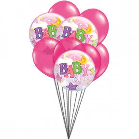 Pink for Girls (3 Mylar & 6 Latex Balloons)