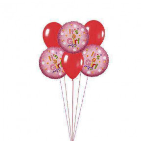 It's a Girl balloons    (  6 Latex Balloons )