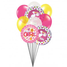 For Baby Girl (6 Latex & 3 Mylar Balloons)